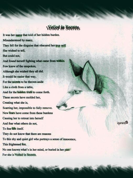 """Veiled in Secrets"" by Noelle Brooks"