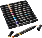 Prismacolor Premier Double Ended Chisel Tip and Fine Tip Art Markers