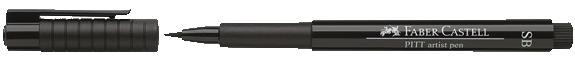 Faber Castell PITT Artist Pen Soft Brush Black