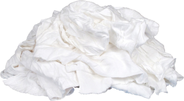 White Recycled T-Shirt Cloth Rags