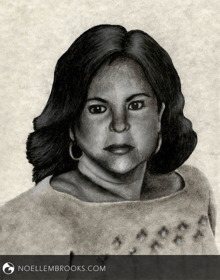 Mother's Memorial August 27, 2015 8.5x11 inches Charcoal on Cardstock 7 Hours --- | TESTIMONIAL |