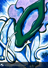 """#245 Suicune --- February 9, 2016 Ink on Bristol 2.5""""x3.5"""" 1.5 Hours"""