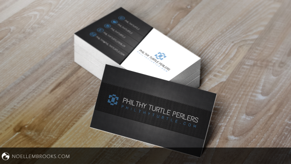 Philthy Turtle Perlers Business Cards