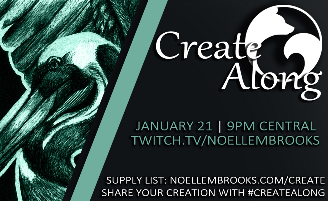 "CreateAlong: Ink ""Leucism"" Art Card"